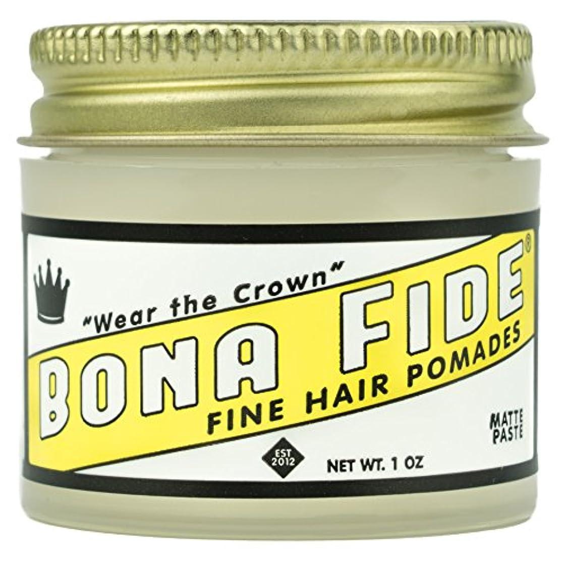 ふざけた実際ペレグリネーションBona Fide Pomade, マットペースト 1oz (28g) / トラベルサイズ,水性/グリース
