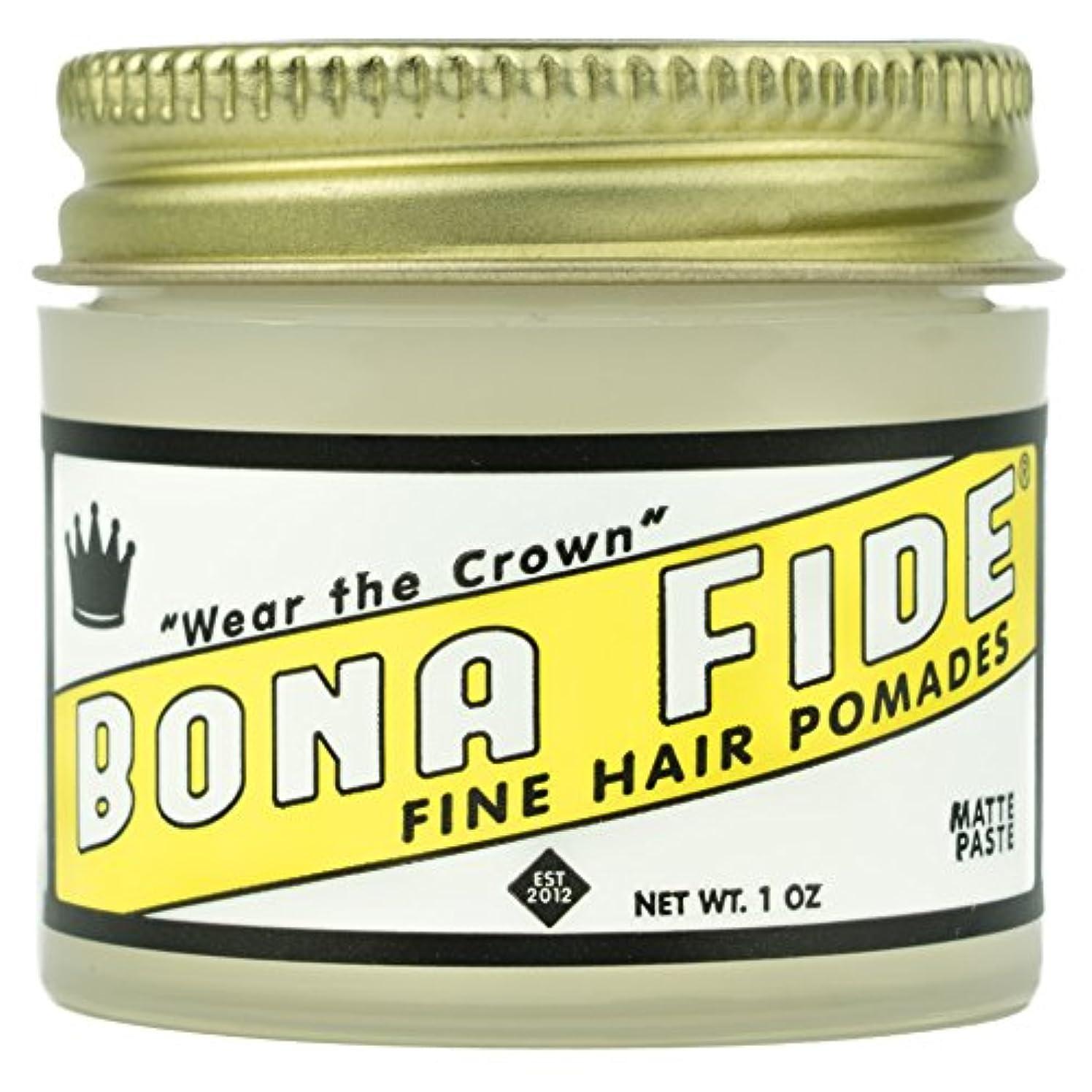 シンカンカーペットドリンクBona Fide Pomade, マットペースト 1oz (28g) / トラベルサイズ,水性/グリース