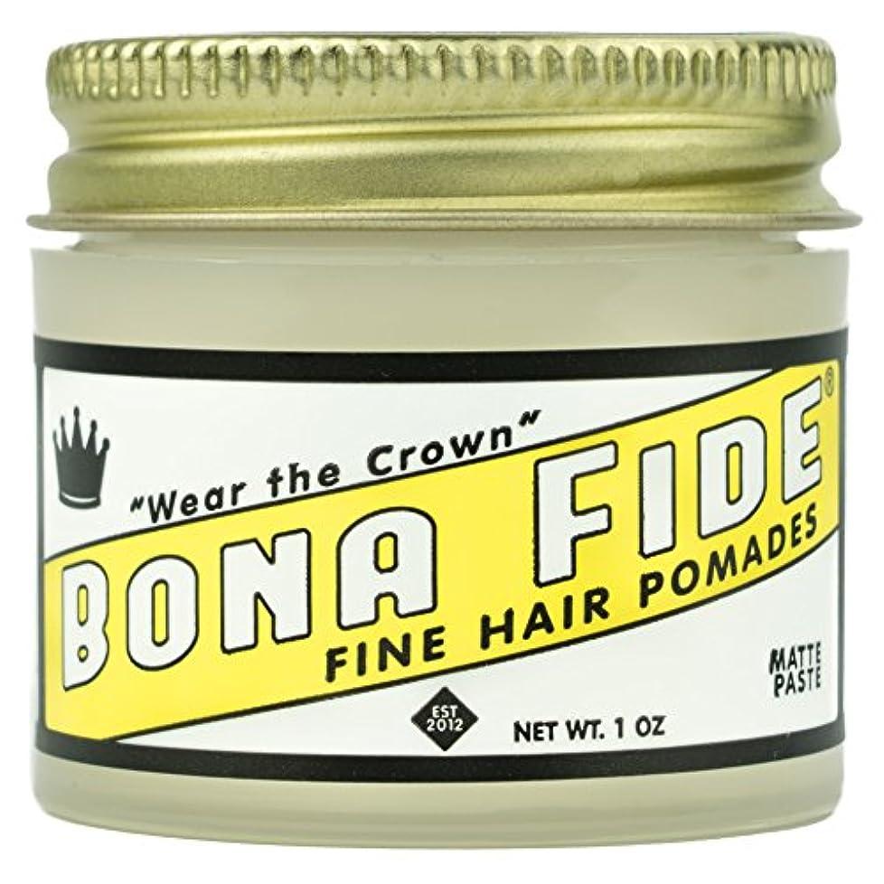 減少邪悪な疲労Bona Fide Pomade, マットペースト 1oz (28g) / トラベルサイズ,水性/グリース