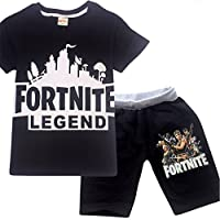 Comfy Loose Pyjama Sets Fortnite Battle Royale Costume Big Boys Sleepwear Kid Clothes Set Casual T Shirts Children Sports Suits 2 Pcs Top Tees + Pants