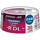 Victor 映像用DVD-R 片面2層 CPRM対応 8倍速  ワイドホワイトプリンタブル 30枚 日本製 VD-R215CS30
