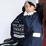 DORACO 自転車専用 ブランケット 防寒 ポンチョ ケープ 子供 マジックテープ で 簡単装着 日本製 防風 軽撥水 通園 (ネイビー★)
