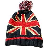 Westman Works UK Union Jack Classic British Beanie with Tassel Pom Winter Hat, One Size