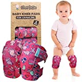 Baby Knee Pads for Crawling (2 Pairs)   Protector for Toddler, Infant, Girl, Boy (Unicorn)