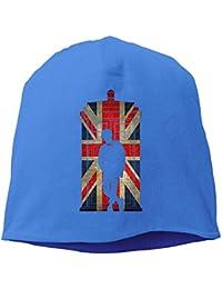 【Dera Princess】メンズ レディース ニット帽 11th UK Flagロゴ コットン ニットキャップ 帽子 オールシーズン 被れる