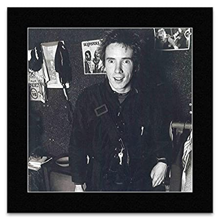 JOHNNY ROTTEN - London 1977 Matted Mini Poster - 29.7x24cm