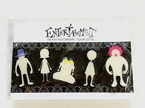 SEKAI NO OWARI セカオワ 2012 'Entertainment' グッズ ピンバッジ