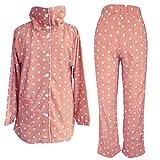 (セシール)cecile あったか襟つきフリースパジャマ NI-201 31 ピンク M