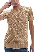 インプローブス imp ケーブル編み 半袖 クルーネック サマーニット サマーセーター