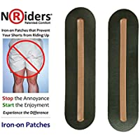 NoRiders 6-inch Iron-on Patches with Stays [6-Pack]
