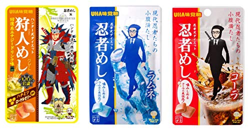 UHA味覚糖 忍者めし アソートセット 3種10個 (回復系エナジードリンク×4・ラムネ×3・コーラ×3)