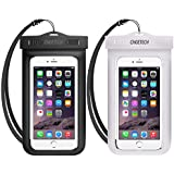 Universal Waterproof Case, CHOETECH 2Pack Clear Transparent Cellphone Waterproof Compatible with iPhone 11/11 Pro/11 Pro Max/Xs/XS Max/XR, Samsung Galaxy Note 10/S10/S9, All Devices Up to 6.5 Inches