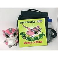 グリーンKids Club Chewoo inナットSweetナットPackaged in aバックパックwith a BPAフリーの色変更水ボトル。
