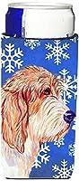 Caroline 's Treasures lh9307-parent Petit Basset Griffon Vendeen Winter Snowflakes Holiday Ultra Beverage Insulators forスリム缶lh9307muk、、マルチカラー Slim LH9307MUK