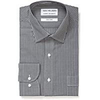 Van Heusen Men's Classic Relaxed Fit Mini Check Shirt