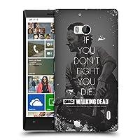 オフィシャルAMC The Walking Dead Rick Fight クオーツ ハードバックケース Nokia Lumia Icon / 929 / 930