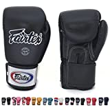 Fairtex フェアテックス ムエタイ ボクシング トレーニング スパーリング グローブ (ブラック, 8oz)