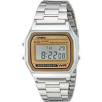 Casio Men's A158WEA-9CF Casual Classic Digital Gold Bracelet Watch