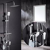 シャワーレースセットの全銅の蛇口の恒温花の天ぷらシャワーシャワー,d