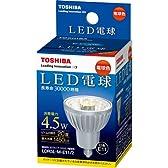 東芝 E-CORE(イー・コア) LED電球 ハロゲン電球形 4.5W (11口金・260ルーメン・電球色) LDR5L-ME11/2