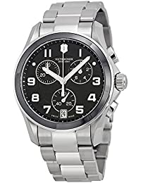 VICTORINOX(ビクトリノックス) 腕時計 並行輸入品 Victorinox Swiss Army Black Dial SS Chronograph Quartz Male Watch 241544 V241544 [並行輸入品]
