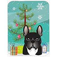 Carolines Treasures BB1599LCB Christmas Tree And French Bulldog Glass Cutting Board, Large