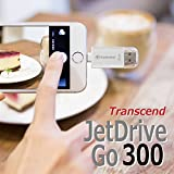 Transcend USBメモリ(iPhone iPad iPod/Win Mac兼用:Apple MFi認証取得)32GB シルバー JetDrive Go 300 TS32GJDG300S