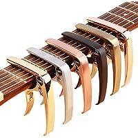ZEALUX カポタスト ギター、ウクレレ、バンジョー、マンドリン、ベース用のスーツ。 超軽量アルミメタル、4&6&12弦の楽器用 - プレミアムアクセサリー (ローズゴールド)