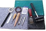 レザークラフト 工具 手縫い スターターキット 14点 セット 【使用解説書付き】