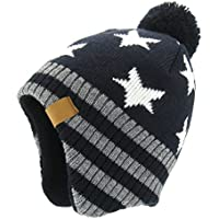 Moon Kitty Baby Boys Girls Knit Hats Winter Fleece Skiing Winter Caps with Warm Ear Flap
