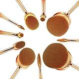 NexGadget 化粧筆 メイクブラシ 歯ブラシ型 10本セット 専門化粧 多機能化粧 ブラシ 品質保証 アイライナーブラシ アイブロウブラシ アイシャドーブラシ リップブラシ (ローズゴールド) ¥ 1,890