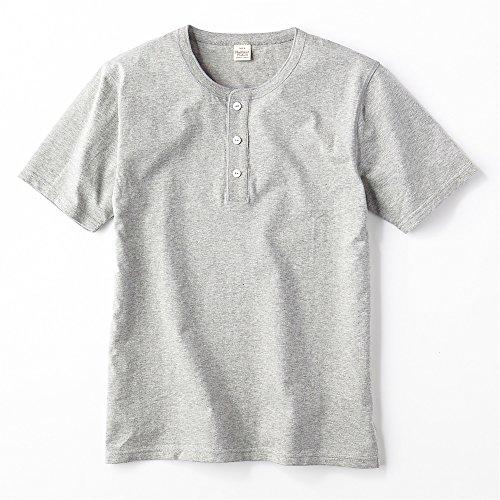 (ヘルスニット) HealthknitヘンリーネックTシャツ メンズ グレー L