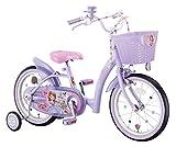 アイデス (ides) ちいさな プリンセス ソフィア14 Disney princess 子ども用 キッズ 自転車 幼児車 補助車 カゴ 宝石 バルブキャップ スポークアクセサリー付き キラキラ ハート型 パープル 14インチ パープル