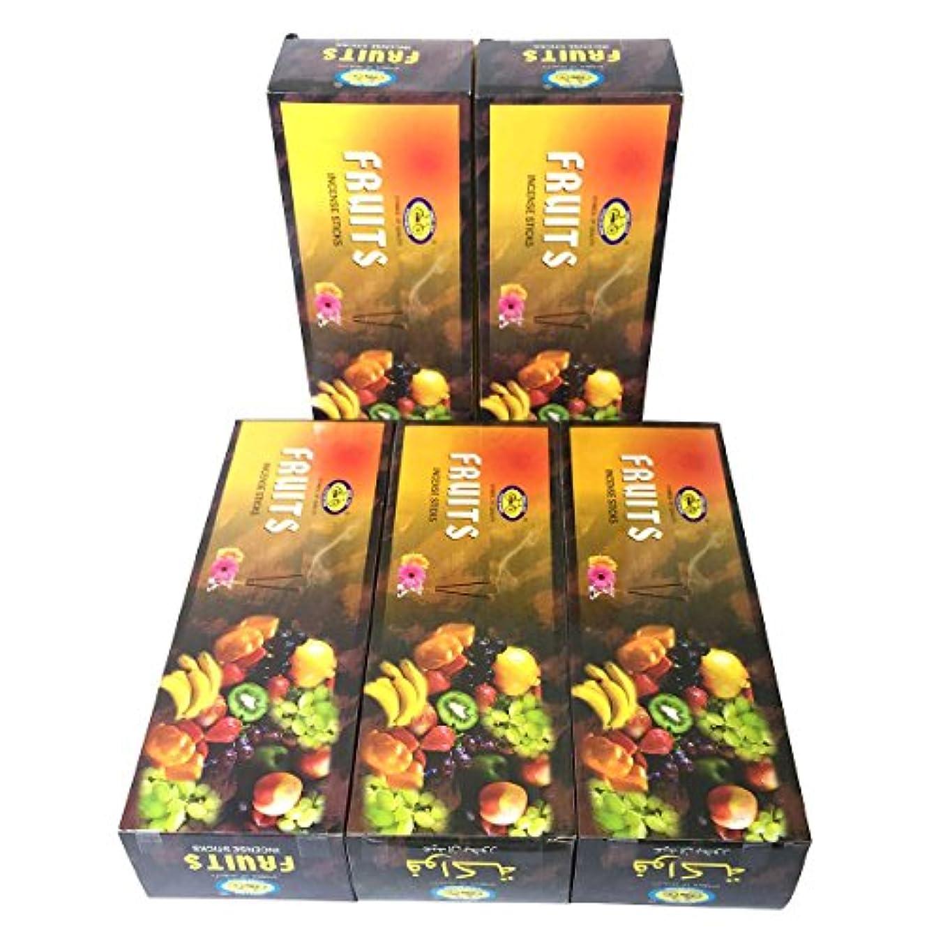 勇気のある丁寧掃くフルーツ香 スティック 5BOX(30箱)/CYCLE FRUITS/ インド香 / 送料無料 [並行輸入品]
