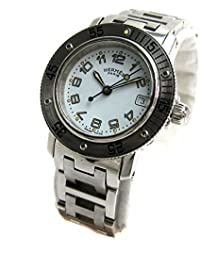 [エルメス]Hermes 腕時計 CL5.210 クリッパーダイバー 白文字盤 BOX レディース 中古