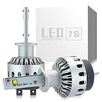 zodoo LEDヘッドライト H1 車検対応 ワンタッチ取付 切り替えタイプ フィリップス PHILIPS&CREE製 XHP50 LEDチップ搭載 8000LM 40W 6000K DC12-24V ホワイト保証1年 Z7SH1