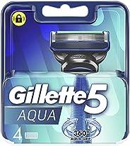 Gillette 5 Aqua Razor Blades, 4 Count