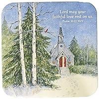 Legacy PublishingグループSeasonalコースター、Church in the Pines, 12タブレット
