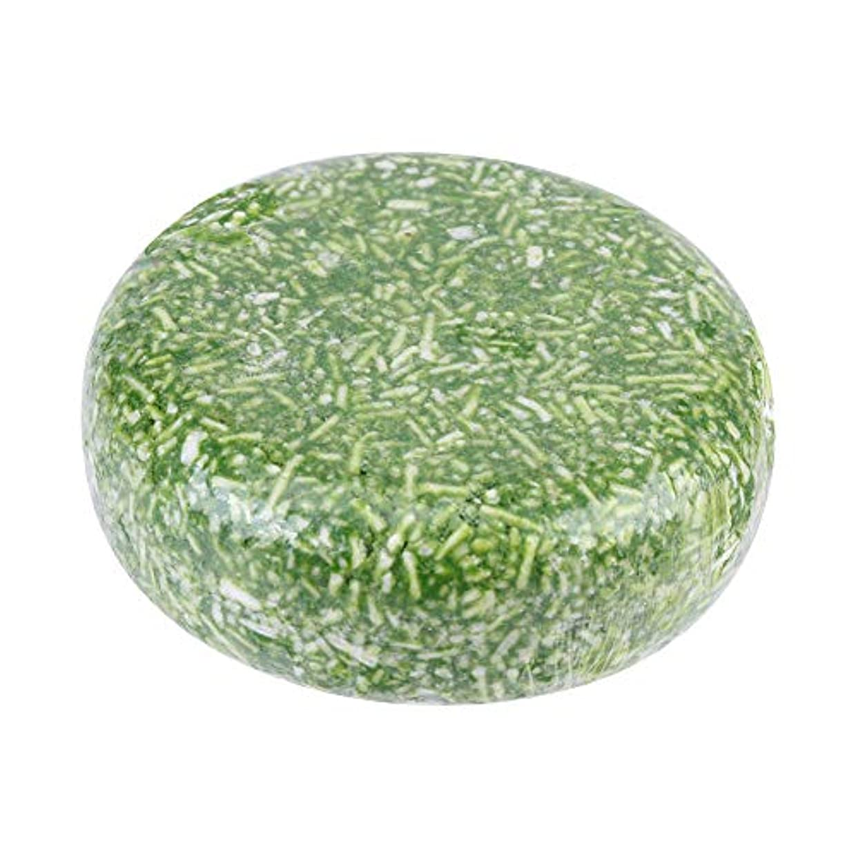 昇進ぼろバッジオーガニック手作り冷たいシナモンシャンプーバー100%ピュアヘアシャンプー(グリーン)