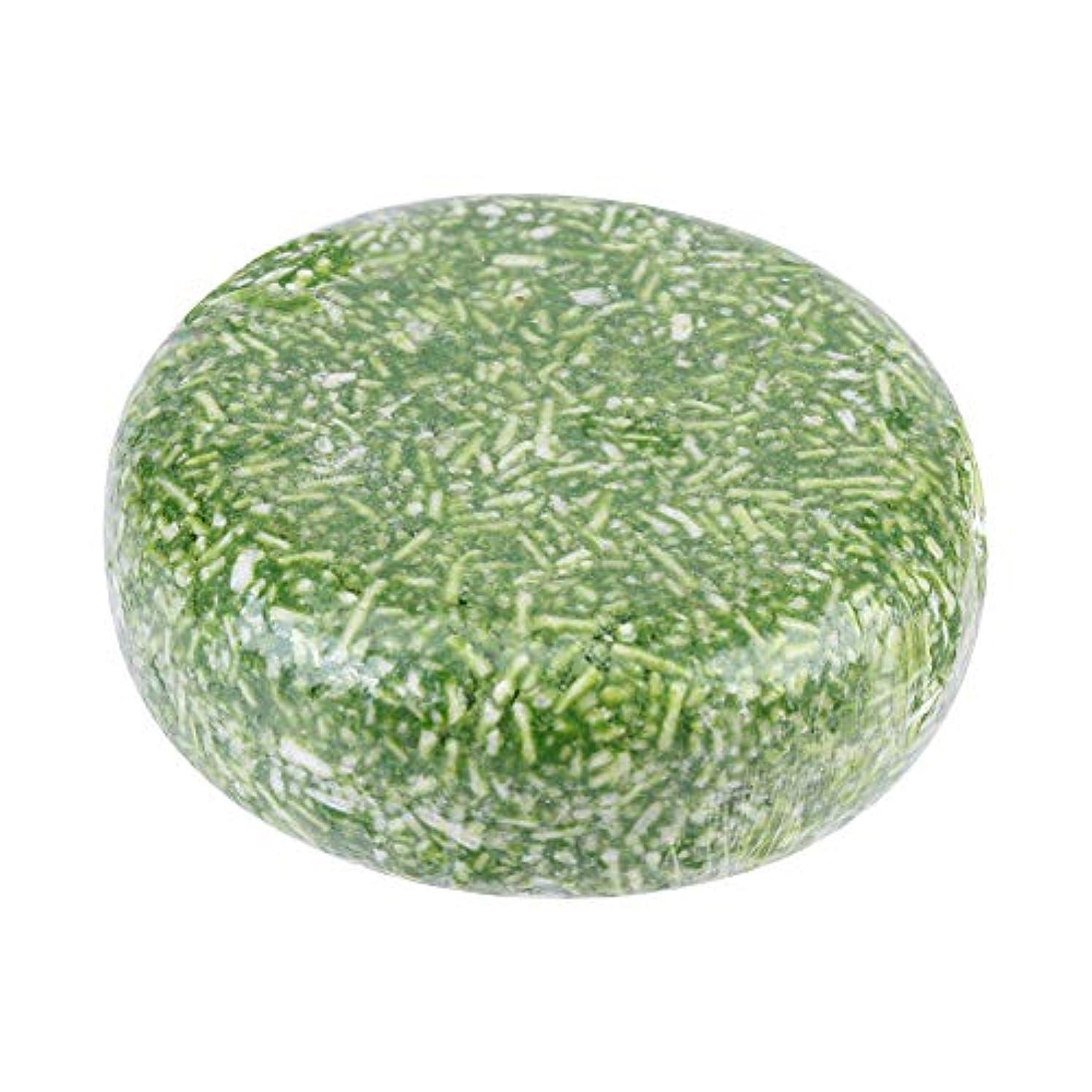 添付性別エコーオーガニック手作り冷たいシナモンシャンプーバー100%ピュアヘアシャンプー(グリーン)