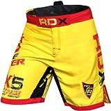 RDZG8122 RDX ファイトショーツ MMA UFC キック 格闘技 イエロー (S)