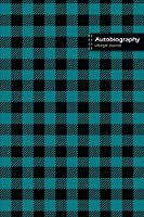 Autobiography Lifestyle Journal, Blank Write-in Notebook, Dotted Lines, Wide Ruled, Size (A5) 6 x 9 In (Royal Blue)