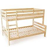 LOWYA (ロウヤ) ベッド 二段ベッド 上段シングル 下段セミダブル 天然木 ヨーロッパ デザイン すのこベッド ナチュラル おしゃれ 新生活
