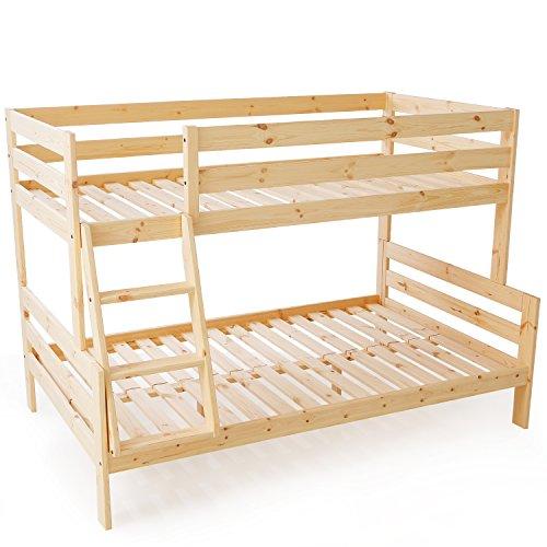 LOWYA (ロウヤ) ベッド 二段ベッド 上段シングル 下段セミダブル 天然木 ヨーロッパ デザイン すのこベッド ナチュラル おしゃれ