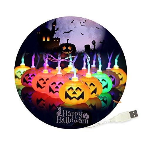 iitrust ハロウィン 飾り 30球 3m 省エネ LED かぼちゃ 2色選び可能 イエロー カラー USBタイプ イルミネーション ライト ハロウィン 飾り カボチャ ワイヤー ハロウィン照明飾り カボチャライト 電飾 パーティー ハロウィン 飾り iitrust正規代理品