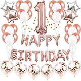 1歳 誕生日 飾り付け バルーン Happy Birthday 風船 パーティー 装飾 バースデー 飾り セット JM020