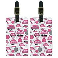 メガンこんにちは、私の名前は荷物のスーツケースキャリー-に ID Tags 2本セット