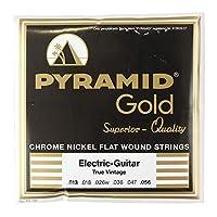 PYRAMID STRINGS EG Gold 013-056 フラットワウンド エレキギター弦×6セット