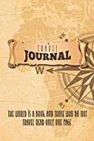 Travel Journal 2020: Lined Notebook Journal Gift, 120 pages, 6 x 9, Soft Cover, Matte Finish
