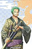 """Notebook: zoro, One Piece , Journal for Writing, College Ruled Size 6"""" x 9"""", 110 Pages"""